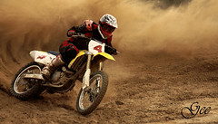 Go for it (Geelistic) Tags: dusty bike sport race speed canon way out outdoor racing dirt kuwait dust kuwaiti q8