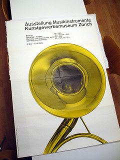 Musikinstrumente 1962 Poster – Richard Paul Lohse