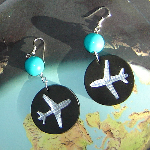 "Aluminum Can Earrings-""Jets"" ~ 2 of 6 photos"