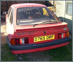 1986 Ford Sierra XR4x4 (Stuart Axe) Tags: old uk greatbritain red england classic ford abandoned rotting car wasted trash junk rust classiccar decay rusty dump sierra burnt crap abandon 80s rusted rubbish gb mk2 rusting stolen waste rotten mould 1986 1980s saloon scrap derelict abandonment corrosion 1990s xr decayed 90s decaying ghia corroded hatchback v6 gl glx dumped mouldy junked fordsierra nicked jellymould mk1 crapcar scrapcar xr4i scrappage crapcars xr4 xr4x4 uwebahnsen