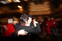 ballerini di tango in galleria san federico (rosa_pedra) Tags: torino strada tango turin ballo 14febbraio giornatadellacultura