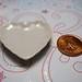 Dollhouse Miniature - Heart-Shaped Ceramic Plates (Set of 4) - SUPPLIES