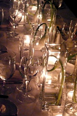 Wedding Table Setting (atl10trader) Tags: flowers wedding table glasses candles wine anticipation setting votives