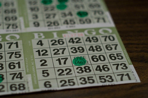 Bingo cards by sarae, on Flickr