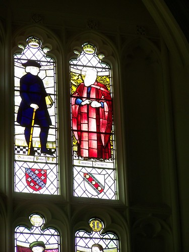 Darwin stained glass window at Christs College