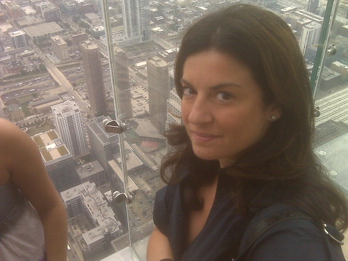 Leyla Standing on The Ledge at Willis Tower