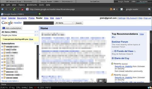 Google reader netbook