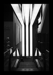 wh(Y) (Eve Livesey) Tags: light bw lines shop nikon escalator why bernabeu nophotos bej evelivesey gottoldofffortakingthis