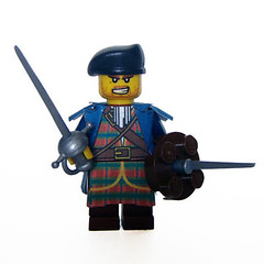 Jacobite Officer (Hound Knight) Tags: rebel scotland lego scottish minifig custom jacobite