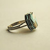 Turquoise And Cement Paper 'jewel' Ring