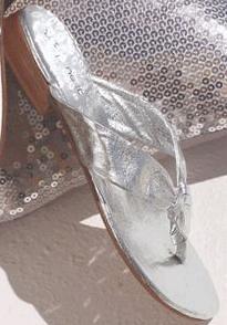 Next Silver flip flops