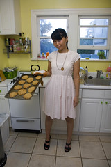 kozy baker (kozyndan) Tags: cute home kitchen mom baking cookie dress wife peanutbutter bake kozy homemaker