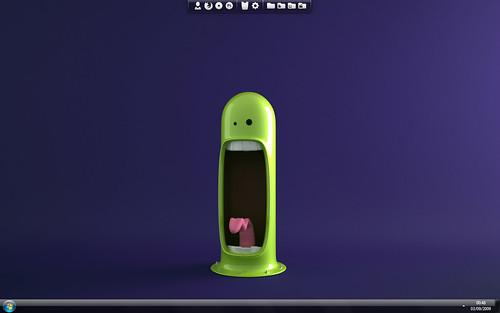 Windows 7 Desktop: Cartoon Boring