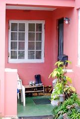Porch (ljqlauren) Tags: pink porch rubberboots