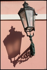 -Pink- (Vt Hassan) Tags: street pink shadow white green lamp colors silhouette different prague image compo czechrepublic historical something somethingdifferent compositio