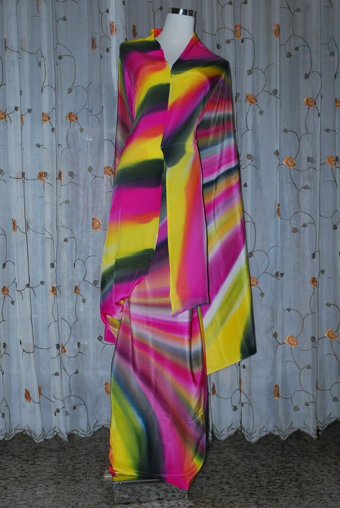 ... terengganu batik songket asli jacquard sutera abstrak sifon sampin