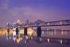 Louisville, KY (~joe payne~) Tags: bridge skyline reflections puente dawn lights luces kentucky ponte pont louisville luzes reflexions ohioriver reflejos llums canonef50mmf14usm reflexões sooc karmapotd karmapotw