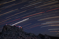 Star Trails over Dee Wright and the Sisters (Re-Edit) (keith10eyck) Tags: mountain night oregon dark star long exposure pacific northwest time trails observatory nighttime late wright dee cascade lapse starlight keith10eyck