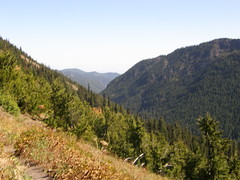 Views on way down from Marmot Pass.