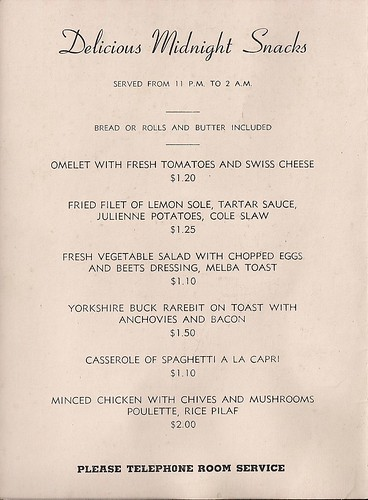 1947 Hotel New Yorker Room Service Menu (2)