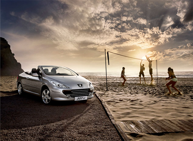 50 Impressive Car Ad Photographs