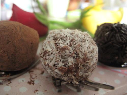 Coconut chilli truffle