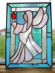 Angel -  stained glass by Anna Wiercioch (Anna Wiercioch) Tags: anna glass angel stained aniol witraz wiercioch