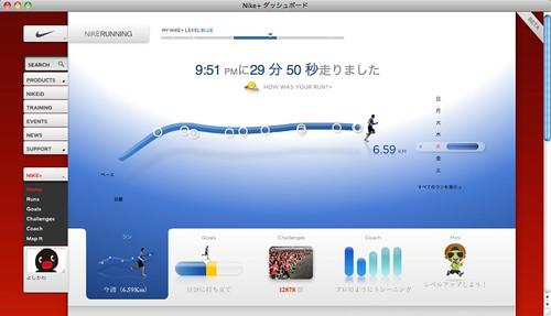 Nike+ ダッシュボード