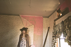 (yyellowbird) Tags: wallpaper house selfportrait abandoned girl hat poplar grove cari creature
