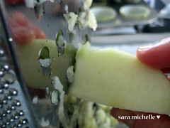 Grating the apple