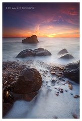 Rockwash (Dylan Toh) Tags: sunset sea seascape silhouette rock landscape coast twilight long exposure dusk wave wash foam southaustralia blend waterscape everlook hallettcove