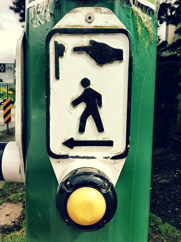 The crosswalk button