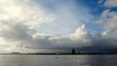 From the Pier Head (Hannah Clare) Tags: sky cloud liverpool river birkenhead mersey