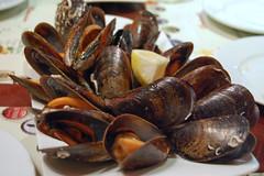 Steamed Mussels (su-lin) Tags: barcelona food restaurant tapas catalana cerveseria
