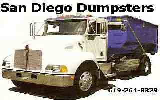 San Diego Dumpsters, Roll-Offs, Containers, Debris Bins