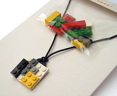 Lego Necklace (weggart) Tags: lego recycled jewelry plastic alternativematerialjewerly