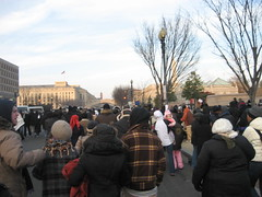 Making our way to the Mall after a rest stop.  (Thanks FEMA building and staff!) The streets in DC look like Paris here