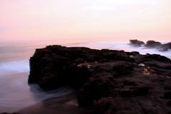 evening (sukandia (sukandia.com)) Tags: sunset beach wave pantai ombak balibeach sesehbeach
