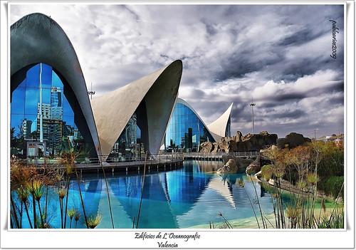 Edificios de L´Oceanografic por Pablo Arias.