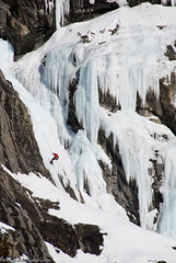 Descending The Weeping Wall (Marc Shandro) Tags: winter snow canada mountains ice nature rockies location climbing waterfalls alberta northamerica rockymountains freshwater rapelling environments abseil jasperpark