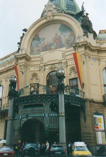 Prachtig art nouveaugebouw