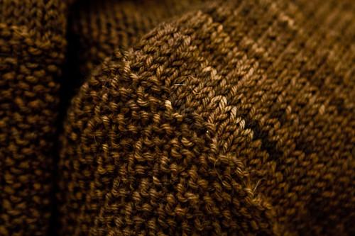 Tess Wrap Vest - Moss Stitch Border