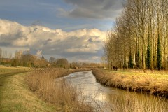 Walking around... (kris H) Tags: nature clouds river landscape belgium belgique belgie walk wolken 1001nights hdr wandeling belgien rivier awesomeshot langdorp aarschot demer vlaamsbrabant freephotos theunforgettablepictures goldstaraward 100commentgroup goldenart