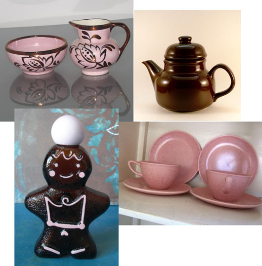 Pink and Brown Vintage Etsy Finds
