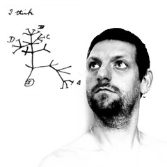 12/02/2009 (Day 3.43) - I Think (Kaptain Kobold) Tags: blackandwhite sketch branches darwin evolution science explore charlesdarwin layers 365 hnt biology serif treeoflife day343 photoplus kaptainkobold darwinday 365days interestingness298 yourfave i500 365thursday 3650209 365more darwin200 365year3 darwin2009 notebookb