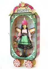*BeLieVe* FaiRy aLTeReD aRt CoLLaGe TiN (sPaRK*YouR*iMaGiNaTioN) Tags: pink original collage fairytale vintage paper toy photo doll folk assemblage mixedmedia fairy fairyland whimsical alteredart shabby effa zne
