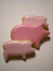 PIGGY 1 (rosey sugar) Tags: wedding cake cookie decoration royal celebration icing piping favour sugarcraft