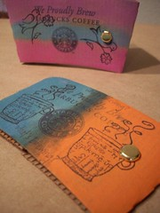 AWsleeves2 (Jupita) Tags: coffee altered starbucks alteredart notebooks sleeves almondworks