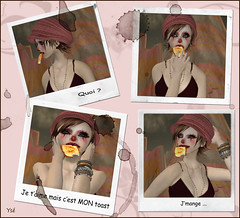 Ys mange ses toasts comme un cochon (Ys Ah) Tags: secondlife freebies miasnow lurvebite timelessagency fashionsladdict