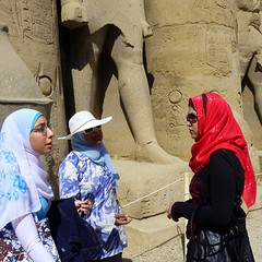 Rendezvous with the Pharaoh (Ginas Pics) Tags: people woman man history beautiful lady women fb islam egypt hijab luxor ramses kopftuch pharao ethnography hadith travelphotography ginaspics muslimwomen  muslima  egyptpics spiritofphotography allaboutegypt luxorramses prettymuslima schahada  hadithen